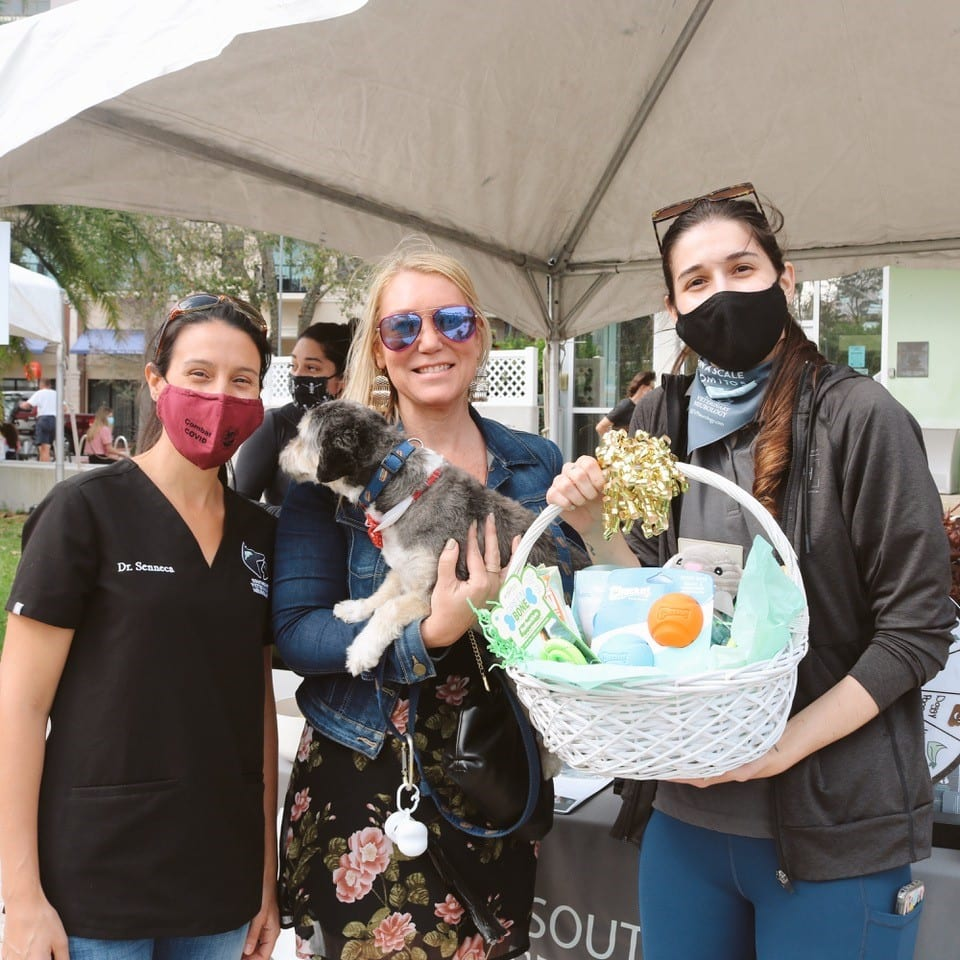 Contest winners and Paws in the Park event