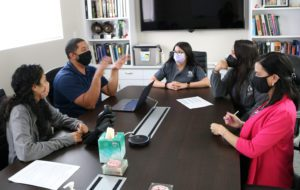 Jovani during a SEVN team meeting to help ensure opportunities for veterinary career path options